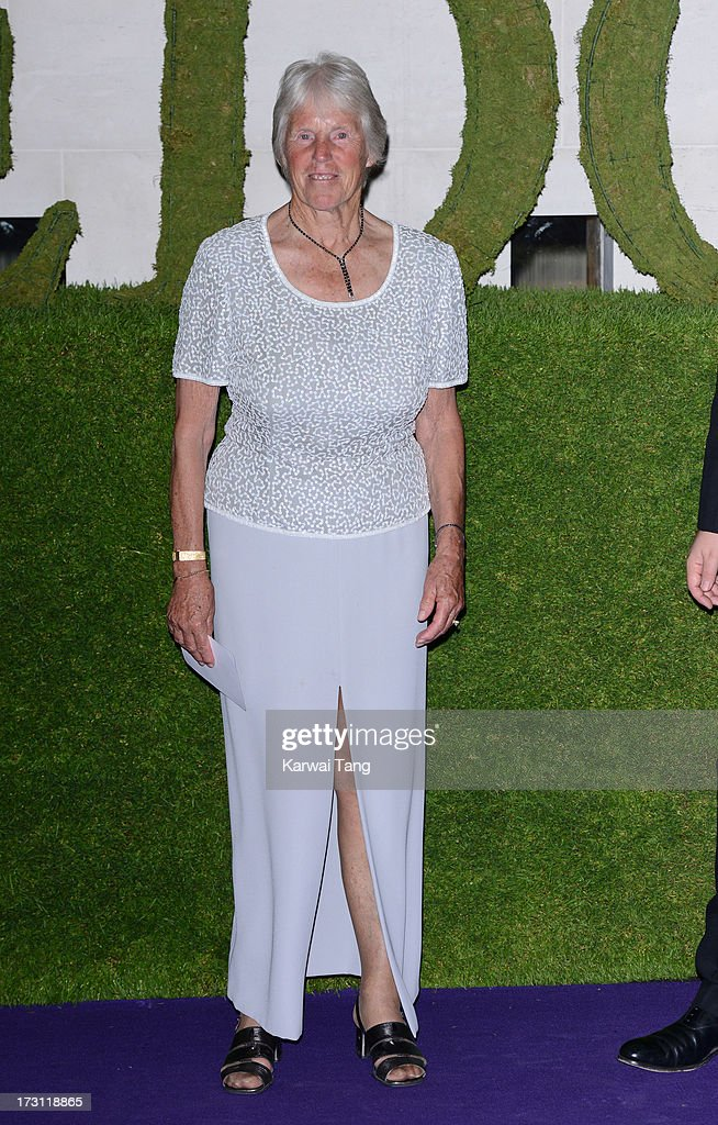 Ann Jones arrives for the Wimbledon Champions Dinner held at the InterContinental Park Lane Hotel on July 7, 2013 in London, England.