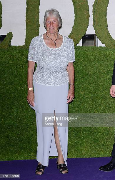 Ann Jones arrives for the Wimbledon Champions Dinner held at the InterContinental Park Lane Hotel on July 7 2013 in London England