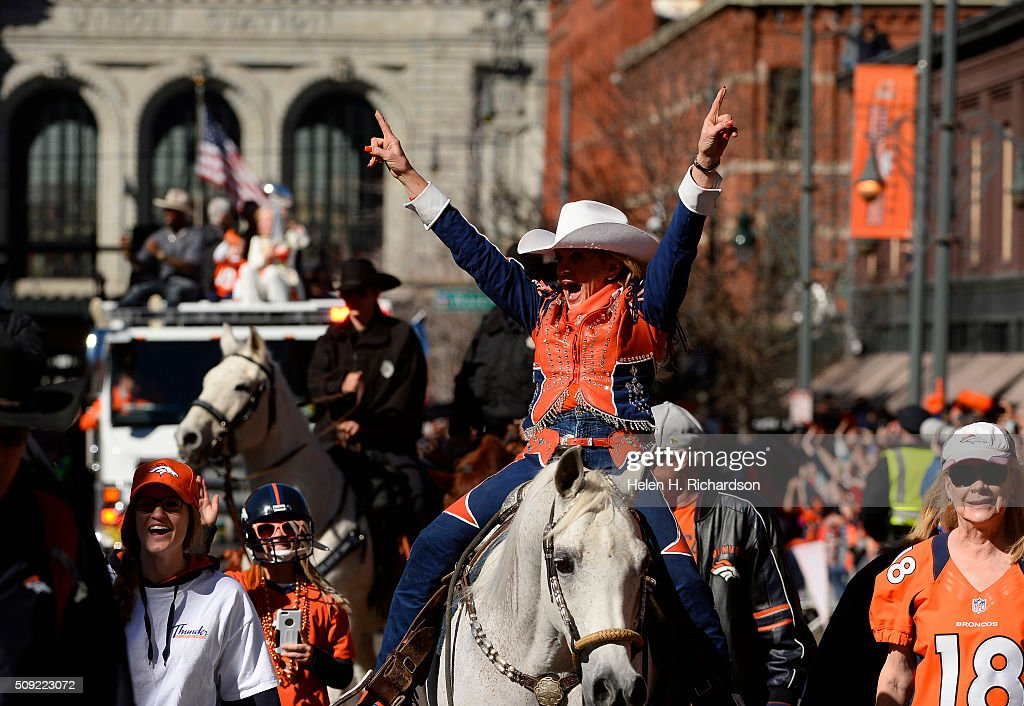 Broncos Super Bowl 50 victory parade and rally in downtown Denver, Colorado : News Photo