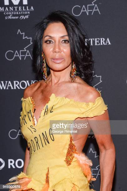 Ann Kaplan Mulholland arrives at the 2018 Canadian Arts And Fashion Awards Red Carpet held at the Fairmont Royal York Hotel on April 20 2018 in...