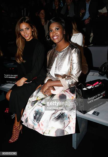 Ann Kathrin Broemmel and Motsi Mabuse attend the 'The Power Of Colors MAYBELLINE NEW YORK MakeUp Runway' show during the MercedesBenz Fashion Week...
