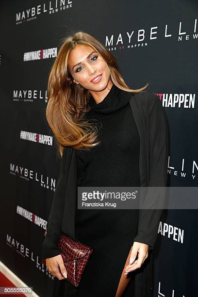 Ann Kathrin Broemmel attends the 'The Power Of Colors MAYBELLINE New York MakeUp Runway' show during the MercedesBenz Fashion Week Berlin...