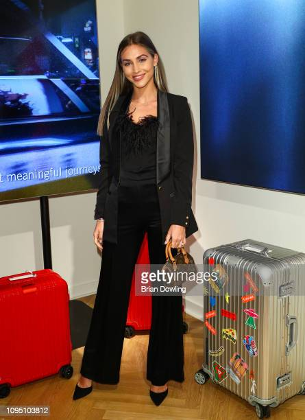 Ann Kathrin Goetze attends the Rimowa Store Opening on January 16 2019 in Berlin Germany