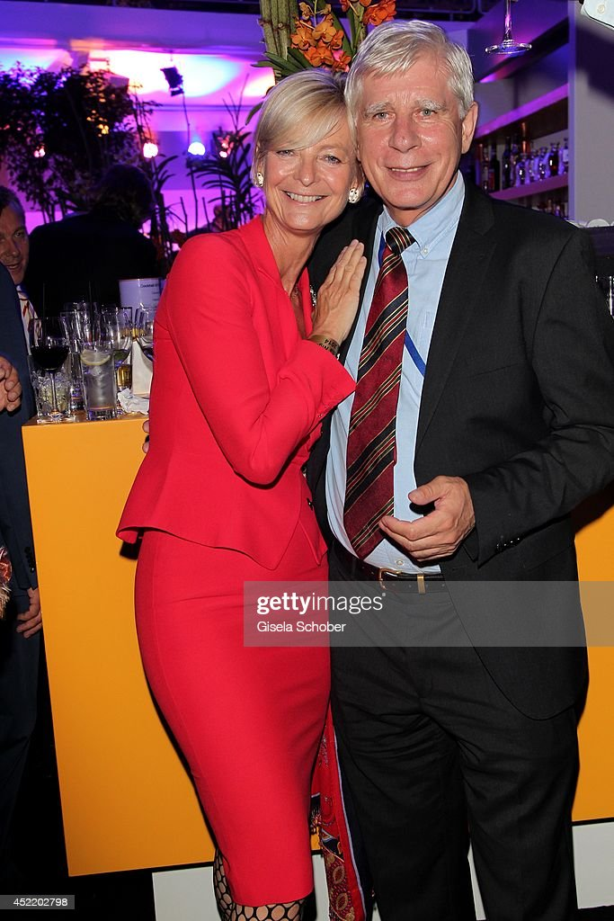 Ann Kathrin Linsenhoff and Paul Schockemoehle attend the CHIO 2014 media night on July 15, 2014 in Aachen, Germany.