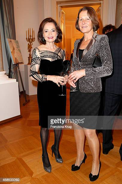 Ann Katrin Bauknecht and Christina Rau attend the 'Chaim Sheba Medical Center' Gala on November 06 2014 in Berlin Germany