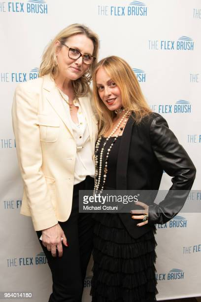 Ann Lawlor and Robin Pack attend Angelo David Pisacreta Jacob Guttman Celebrate Spring and Preview the Flex Brush on May 2 2018 in New York City