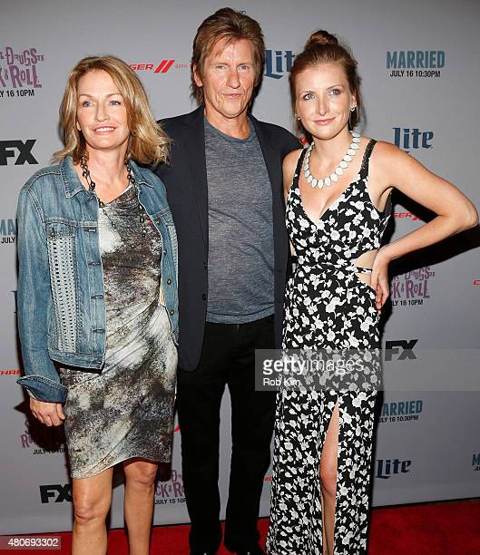Ann Lembeck Denis Leary and Devin Leary attend the New York Series Premiere of SexDrugsRockRoll at the SVA Theater on July 14 2015 in New York City