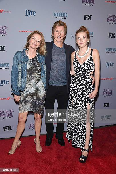 Ann Lembeck Denis Leary and Devin Leary attend theSexDrugsRockRoll New York Series Premiere at SVA Theater on July 14 2015 in New York City