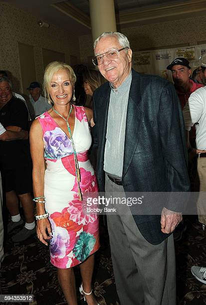 Ann Liguori and Pat Cooper attends the 2016 Lucas Foundation Golf And Dinner Awards at Brooklake Country Club on August 22 2016 in Florham Park New...