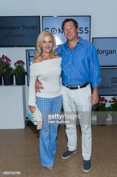 Ann Liguori and Scott Vallary attend Hamptons Magazine's 40th Anniversary Bash by Lawrence Scott Events presented by Compass at Southampton Arts...