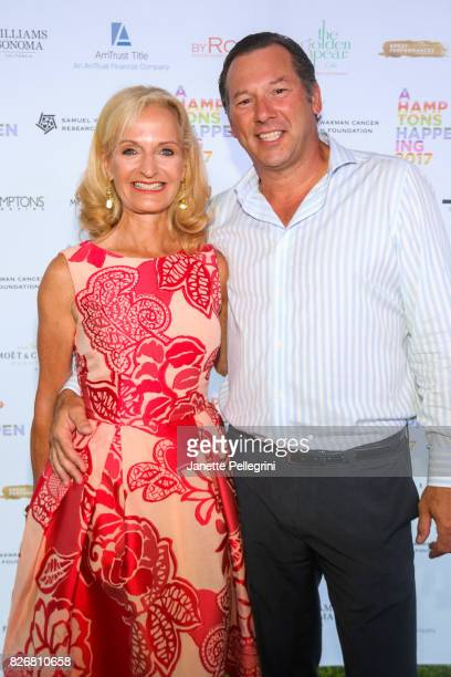 Ann Liguori and Scott Vallary attend Samuel Waxman Cancer Research Foundation 13th Annual Hamptons Happening at a Private Residence on August 5 2017...