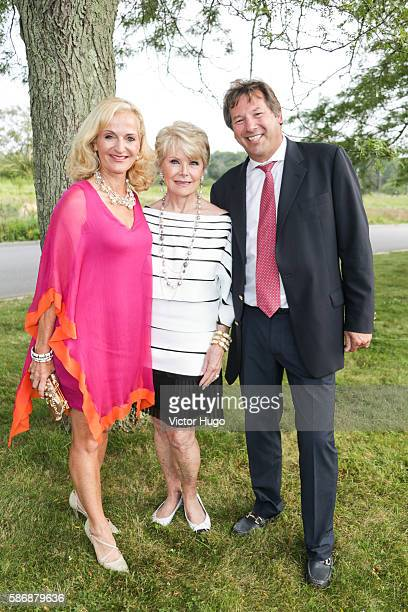 Ann Liguori Nancy Stone and Scott Vallary attend Southampton Hospital's 58th Annual Summer Party at Wickapogue Road on August 6 2016 in Southampton...