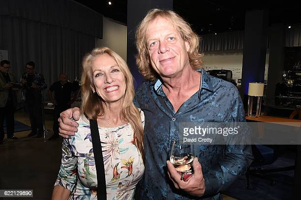Ann Luly and Ron Dobson attend the Luxury Living Hosts Bugatti Home Collection Launch at Petersen Automotive Museum on November 9 2016 in Los Angeles...