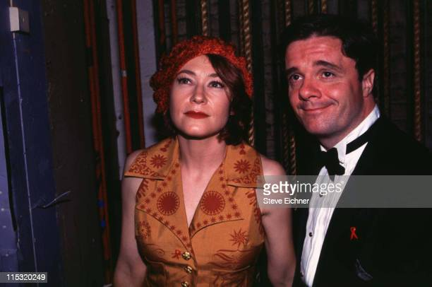 Ann Magnuson and Nathan Lane during Village Voice Obie Awards 1993 at Palladium in New York City New York United States