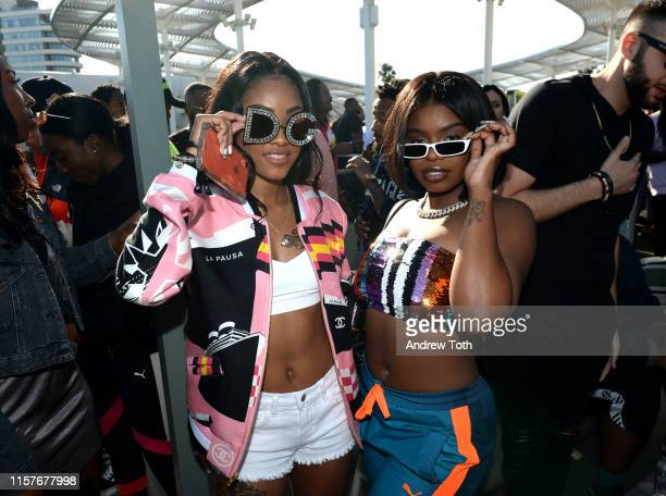 Ann Marie and Dreezy attend The Def Jam Recordings BETX celebration at Spring Place Beverly Hills in partnership with Puma Courvoisier Beats and...
