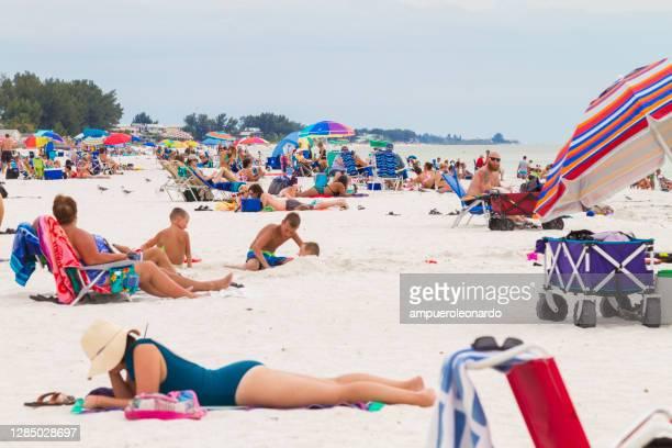 ann marie beach, sarasota, florida, stati uniti d'america - siesta key foto e immagini stock