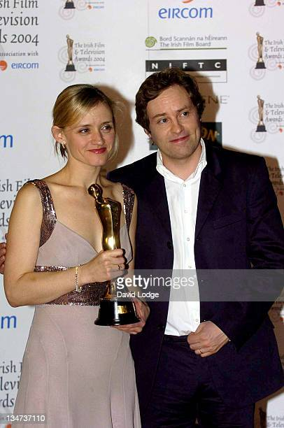 Ann Marie Duff and Ardal O'Hanlon Anne Marie Duff holding her Best Actress in a TV Drama Award for her performance in Shameless