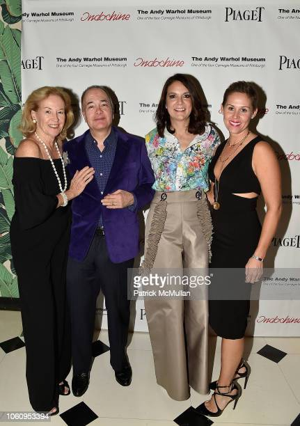 Ann McGuinn Allan Block Susan Allan Block and Anne Johnson attend The Andy Warhol Museum's Annual NYC Dinner at Indochine on November 12 2018 in New...