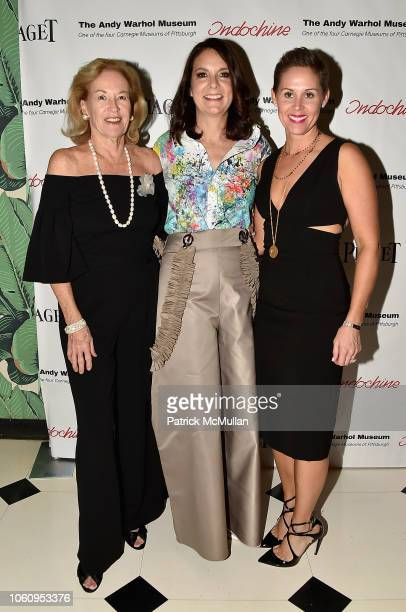 Ann McGuinn Susan Allan Block and Anne Johnson attend The Andy Warhol Museum's Annual NYC Dinner at Indochine on November 12 2018 in New York New York