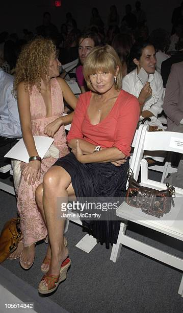 Ann McNally during Olympus Fashion Week Spring 2006 Narciso Rodriguez Front Row and Backstage at Bryant Park in New York City New York United States