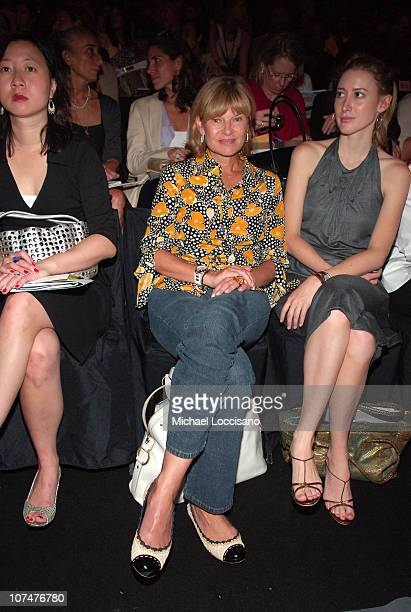 Ann McNally during Olympus Fashion Week Spring 2006 Vera Wang Backstage and Front Row at Bryant Park in New York New York United States