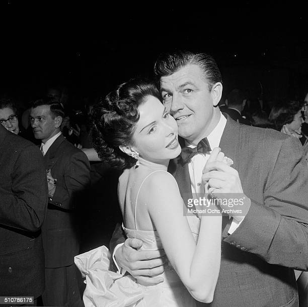 Ann Miller and Bill O'Conner dance at the Cocoanut Grove in Los AngelesCA