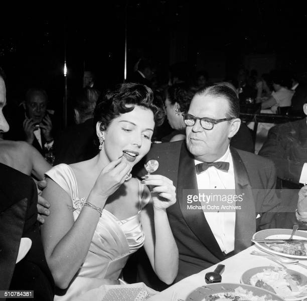 Ann Miller and CJ Tevlin attend a dinner in Los AngelesCA