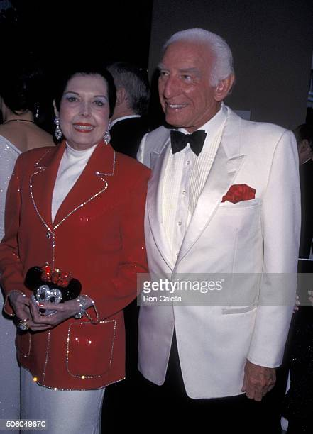 Ann Miller and Morgan Woodward attend 90th Birthday Party for Milton Berle on July 12 1998 at the Beverly Hills Hotel in Beverly Hills California