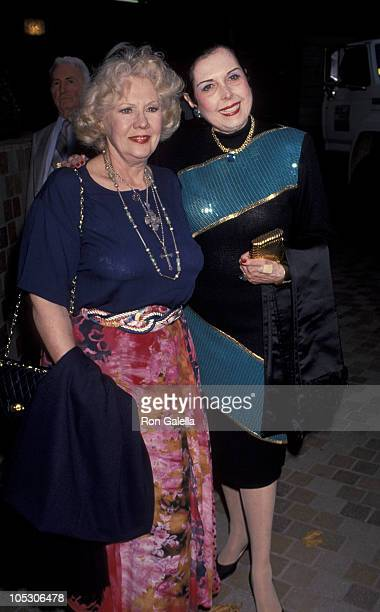 Ann Miller and Virginia Mayo during Opening of Madame Butterfly at Wilshire Theater in Beverly Hills California United States