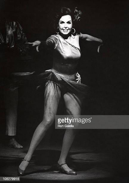 Ann Miller during Performance of Panama Hattie at Westchester Theater in Westchester New York United States