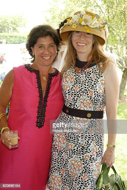 Ann Moore and April DiCostanzo attend Southampton Hospital's Golden Gala Past Chair Luncheon at Private Residance on July 18, 2008 in Southampton, NY.