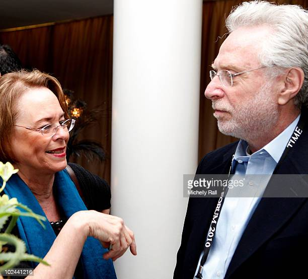 Ann Moore CEO TIME Inc and Wolf Blitzer Anchor CNN attend the TIME/FORTUNE/CNN Global Forum at the Cape Town International Convention Centre on June...
