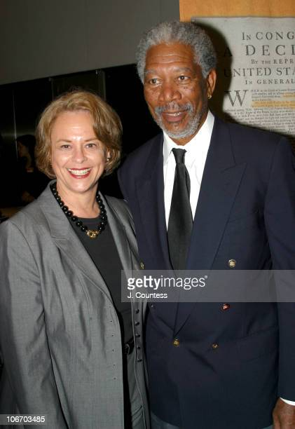 Ann Moore Chairman and CEO of Time Inc and Morgan Freeman