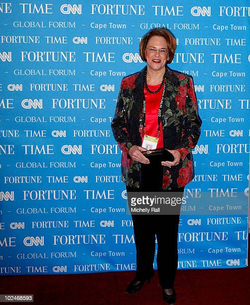 Ann Moore Chairman and CEO, Time Inc Red Carpet arrival for the Gala Dinner of TIME/FORTUNE/CNN Global Forum in Company Gardens on June 27, 2010 in...