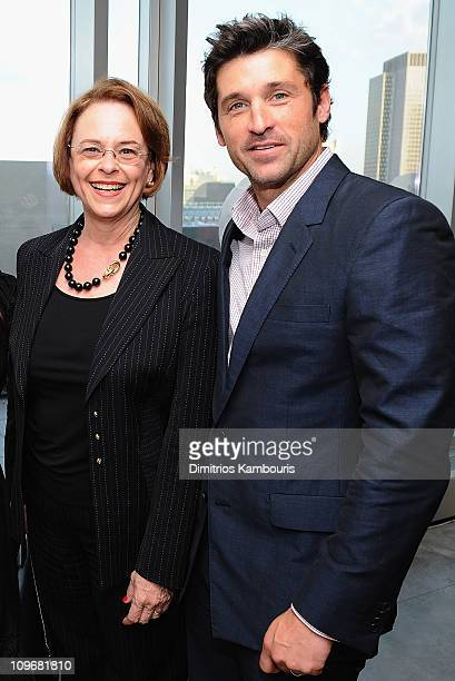"Ann Moore, Chairman of Time Inc. And actor Patrick Dempsey attend The Launch of Patrick Dempsey's New Fragrance ""Unscripted"" Hosted by Avon at..."