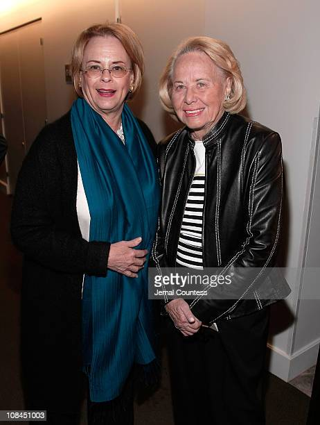 Ann Moore with Writer Liz Smith at the Time Person of The Year Luncheon at the Time Life Building on November 8 2007 in New York City