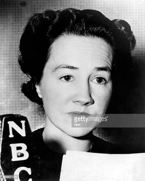 Ann Morrow Lindbergh Charles Lindbergh's wife here january 04 1941 speaking at radio