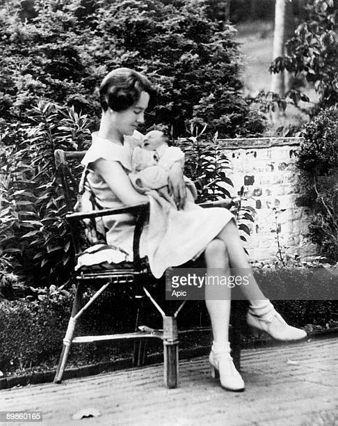 Ann Morrow Lindbergh Charles Lindbergh's wife here with her son Charles Jr after his birth 1930