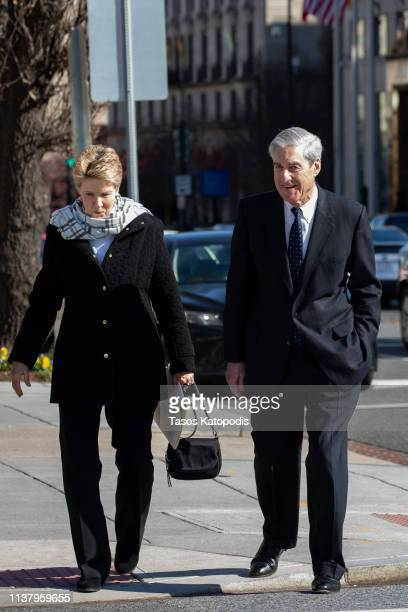 Ann Mueller and Special Counsel Robert Mueller walk on March 24 2019 in Washington DC Special counsel Robert Mueller has delivered his report on...