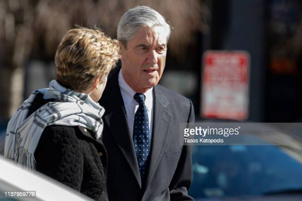 Ann Mueller and Special CounselRobert Mueller walk on March 24, 2019 in Washington, DC. Special counsel Robert Mueller has delivered his report on...