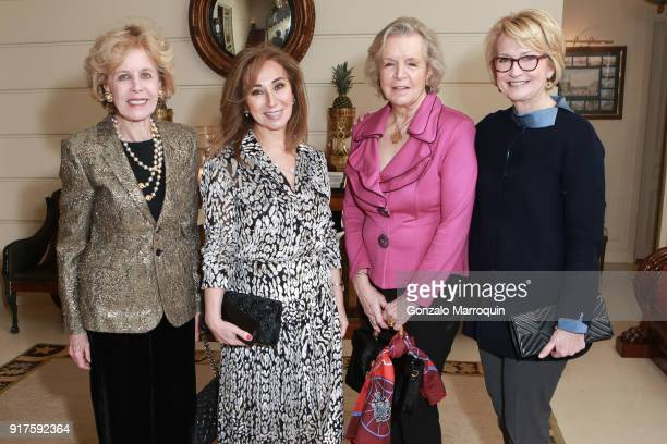Ann Nitze Nassrin Zahedi Pamela Jacovides and Gahl Burt during the Susan Gutfreund Hosts UN Women For Peace Association Reception on February 12 2018...