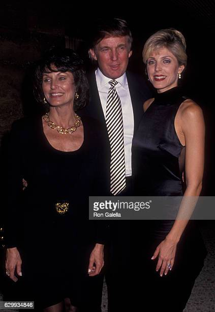 Ann Ogletree, Donald Trump and Marla Maples attend En Garde Arts Benefit on December 5, 1994 at 55 Water Street in New York City.