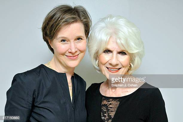 Ann Patchett and Diane Rehm pose backstage at The Kentucky Center for the Performing Arts on March 23 2016 in Louisville Kentucky
