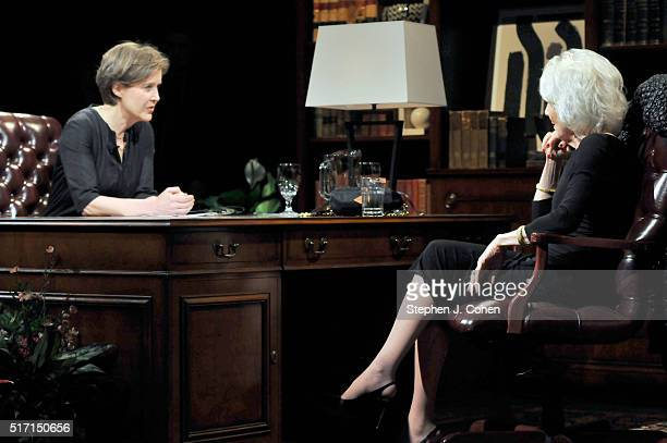 Ann Patchett interviews Diane Rehm at The Kentucky Center for the Performing Arts on March 23 2016 in Louisville Kentucky