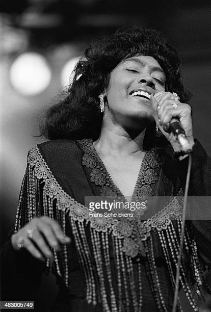 Ann Peebles, vocal, performs during Memphis Soul Night at the Paradiso in Amsterdam, the Netherlands on 5th November 1989.