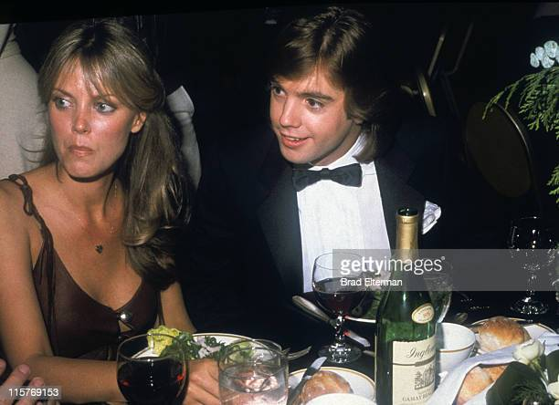 Ann Pennington and Shaun Cassidy at a party in Los Angeles California **EXCLUSIVE**