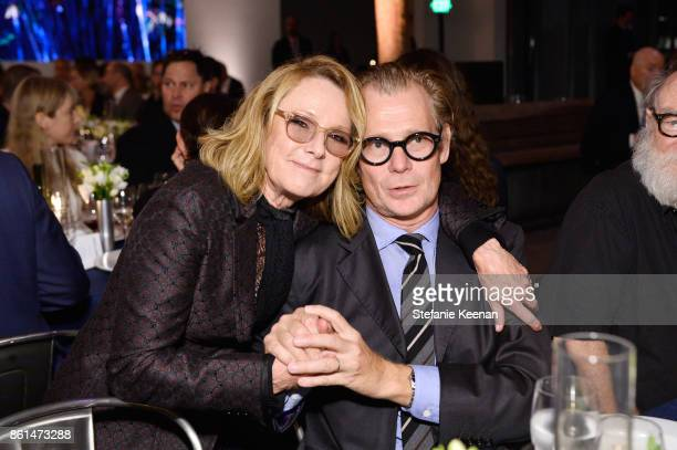 Ann Philbin and Philippe Vergne at the Hammer Museum 15th Annual Gala in the Garden with Generous Support from Bottega Veneta on October 14 2017 in...