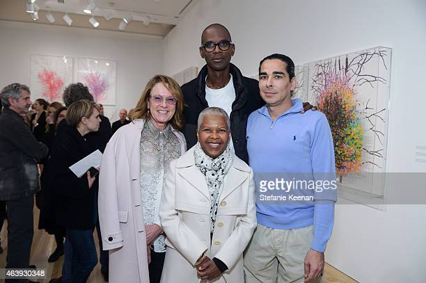 Ann Philbin Mark Bradford Eileen Norton and Allan DiCastro attend Hammer Museum's Provocations Presented In Partnership With Burberry Members'...