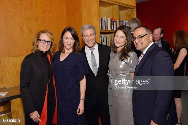 Ann Philbin Stacen Berg Michael Govan Katherine Ross and Ravi Rajan attend 2017 REDCAT Gala Honoring Janet Dreisen Rappaport and John Baldessari on...