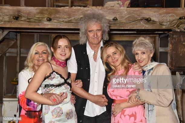 Ann Pinnington Roger Rafaella Hutchinson Brian May Sally George and Anita Dobson attend the press night after party for 'The Rise and Fall of Little...